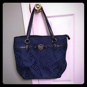 Tommy Hilfiger Navy Jacquard Shoulder Bag